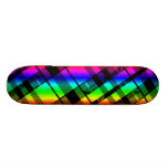 Rainbow Plaid Skateboard Deck
