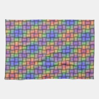 Rainbow Plaid Woven-Look American MoJo Kitchen Kitchen Towel