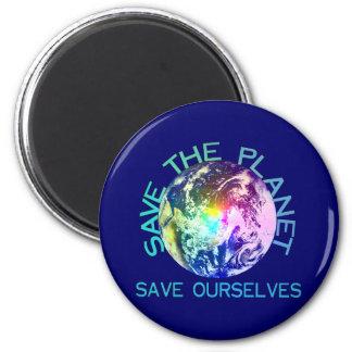 Rainbow Planet 2 Inch Round Magnet