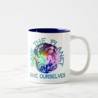 Rainbow Planet Coffee Mug