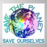 Rainbow Planet Poster