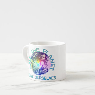Rainbow Planet Espresso Cups