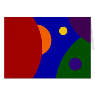 Rainbow Planets Card