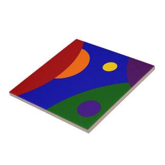 Rainbow Planets Ceramic Tiles