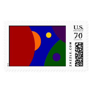 Rainbow Planets – Large Postage Stamps