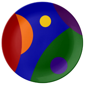 Rainbow Planets Porcelain Plate