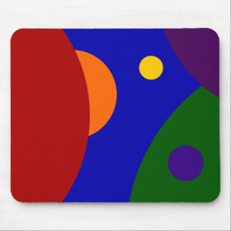 Rainbow Planets Mouse Pad