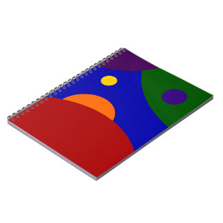 Rainbow Planets Notebook