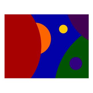 Rainbow Planets Postcard