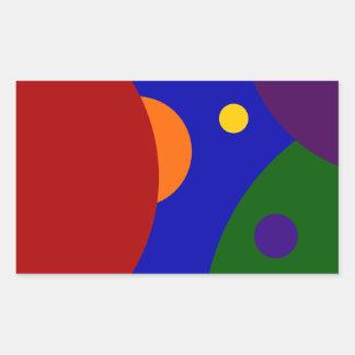 Rainbow Planets Rectangular Sticker