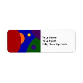 Rainbow Planets return address label