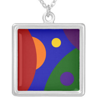 Rainbow Planets Silver Plated Necklace