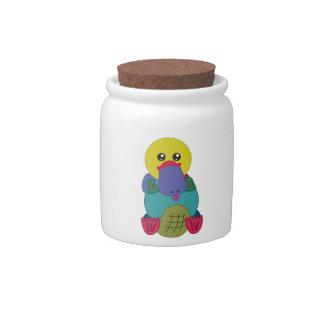 Rainbow Platypus Candy Jar