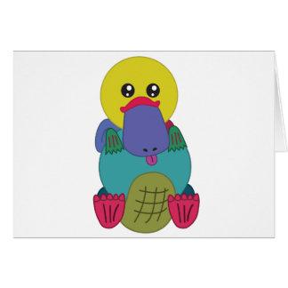 Rainbow Platypus Card