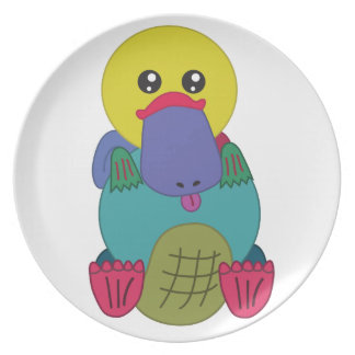 Rainbow Platypus Melamine Plate