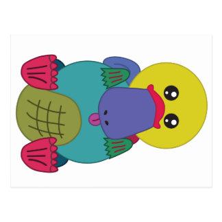 Rainbow Platypus Postcard