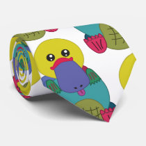 Rainbow Platypus Tie
