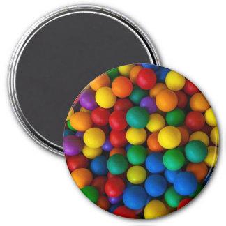 Rainbow Play Balls Pattern Magnet