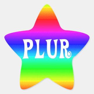 Rainbow PLUR Star Stickers