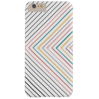 Rainbow plus black and white thin stripes barely there iPhone 6 plus case