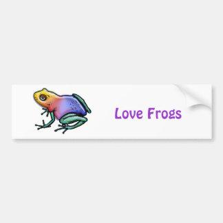 Rainbow Poison Dart Frog Bumper Sticker