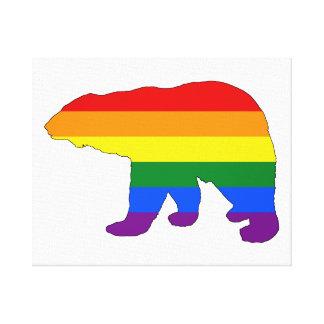 Rainbow Polar Bear Canvas Print