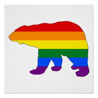 Rainbow Polar Bear Poster