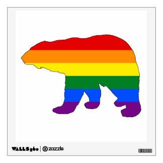 Rainbow Polar Bear Wall Decal
