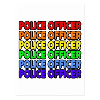 Rainbow Police Officer Postcard
