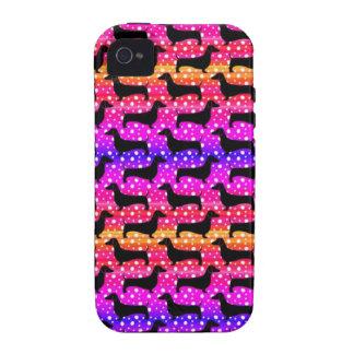 Rainbow Polka Dachshunds iPhone 4/4S Covers