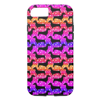 Rainbow Polka Dachshunds iPhone 7 Case