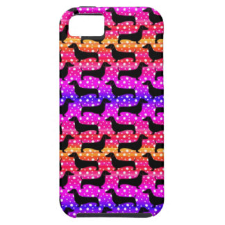 Rainbow Polka Dachshunds iPhone SE/5/5s Case