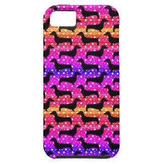 Rainbow Polka Dachshunds iPhone SE/5/5s Case