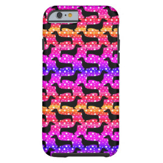 Rainbow Polka Dachshunds Tough iPhone 6 Case