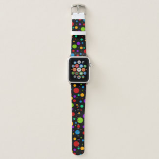 Rainbow Polka Dot Apple Watch Band