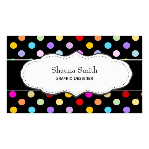 Rainbow Polka dot Business Cards
