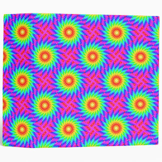 Rainbow Polka Dot Kaleidoscope Mandala Binder