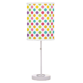 Rainbow Polka Dot Kid's Bedroom Table Lamp