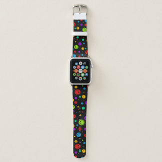 Rainbow Polka Dot Smileys Apple Watch Band