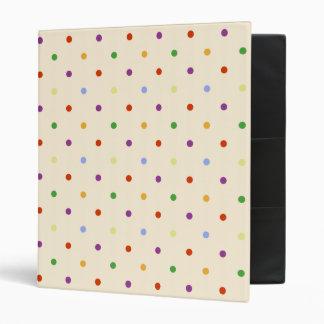 Rainbow Polka Dots 3 Ring Binder