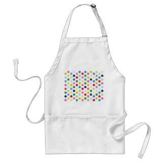 Rainbow polka dots adult apron