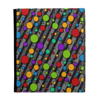 Rainbow Polka Dots and Stripes iPad Folio Cases