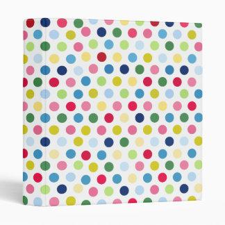 Rainbow polka dots binder