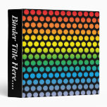 """Rainbow Polka Dots Black - 1.5"""" Binder"""