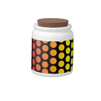 Rainbow Polka Dots Black Candy Dishes