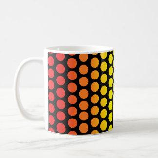 Rainbow Polka Dots Black Coffee Mug