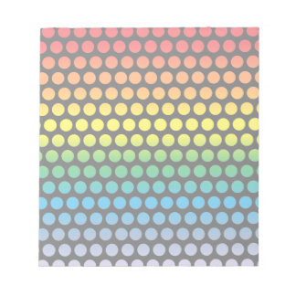 Rainbow Polka Dots Black Notepad