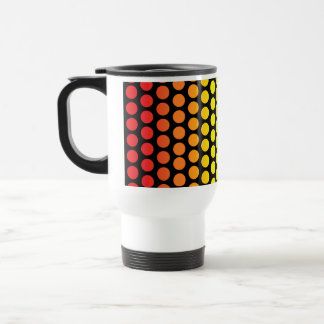 Rainbow Polka Dots Black Travel Mug