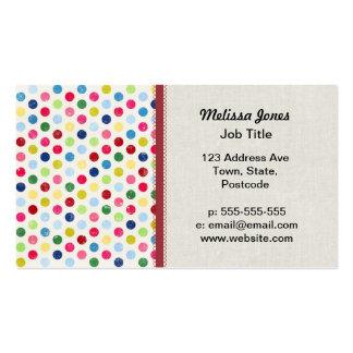 Rainbow polka dots business cards