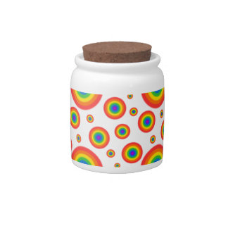 Rainbow Polka Dots Candy Dishes